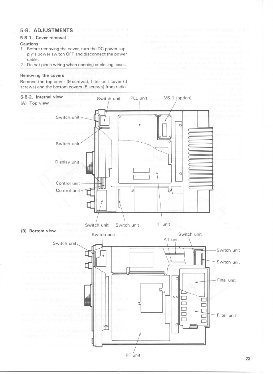 8. adjustments | Kenwood TS-440S User Manual | Page 25 / 57