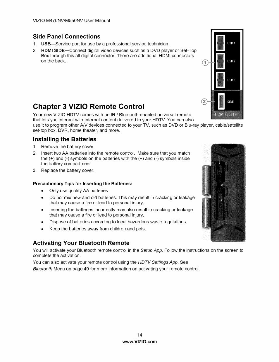 side panel connections chapter 3 vizio remote control installing rh manualsdir com vizio m470nv service manual Power Supply Board Vizio M470NV