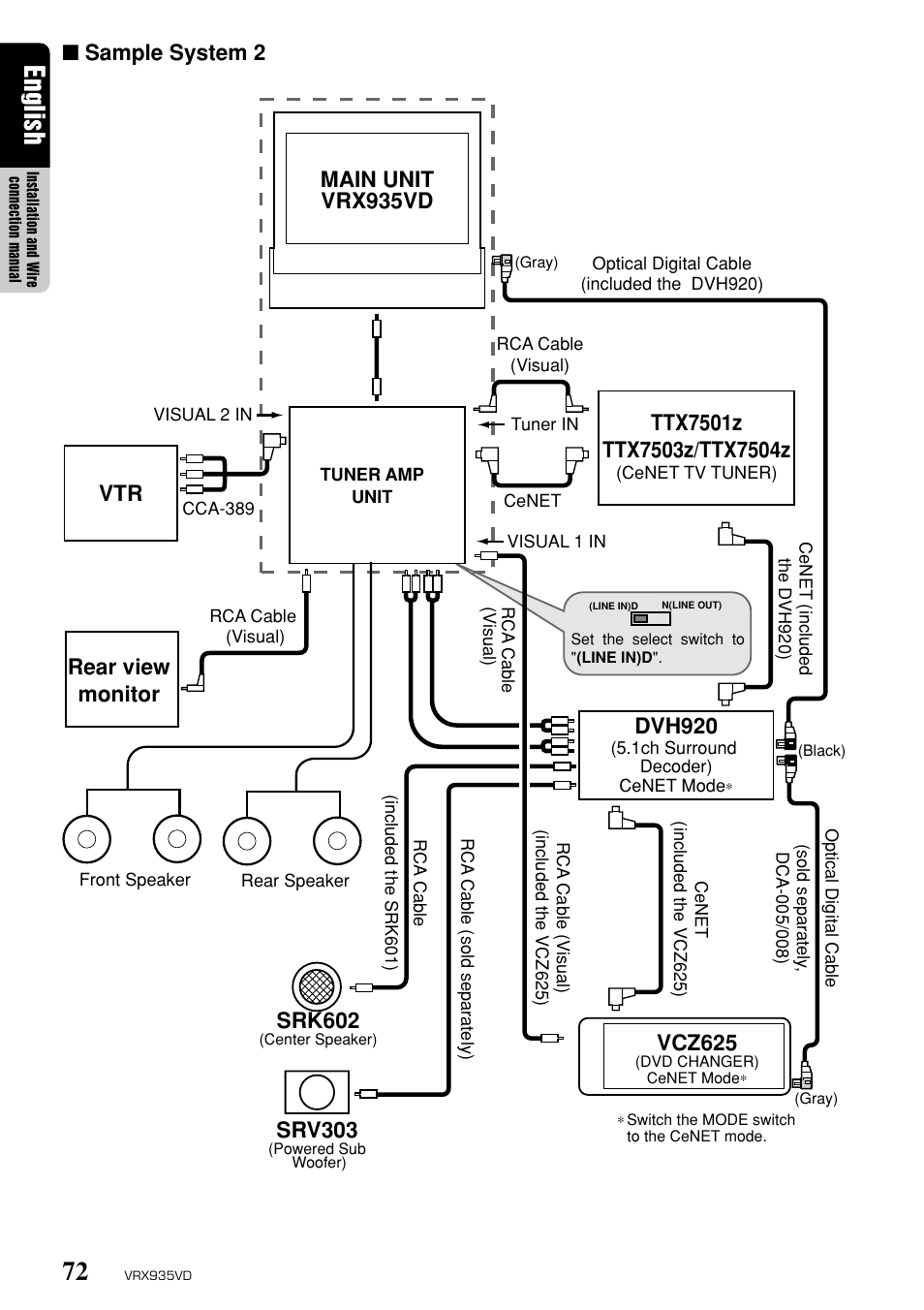 Clarion Vrx935vd Wiring Diagram Pro Audio Diagrams Mifinder Co Parts English Sample System 2