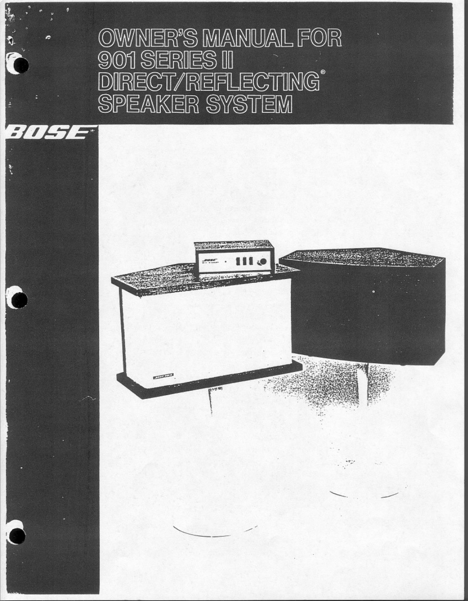 bose 901 series ii user manual 16 pages rh manualsdir com Bose 901 Equalizer Manual bose 901 series v owners manual