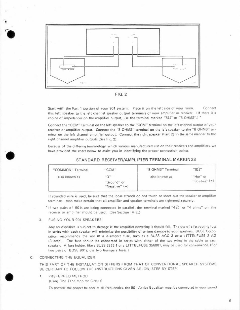 Bose 901 Speaker Wiring Diagram Car Iv Librarybose