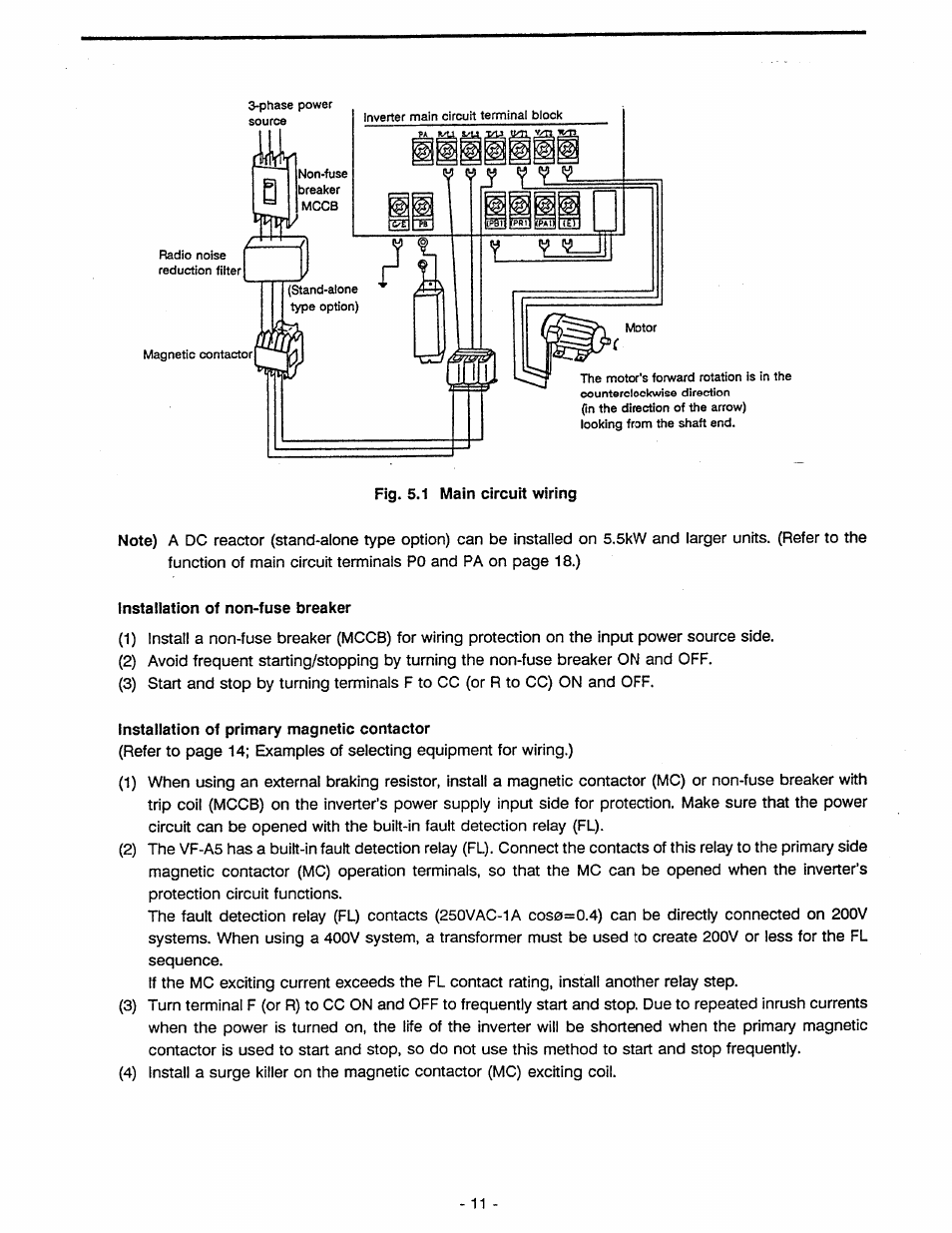 Toshiba Motor Starter Wiring Diagram Library Tosvert Vf A5 User Manual Page 17 149