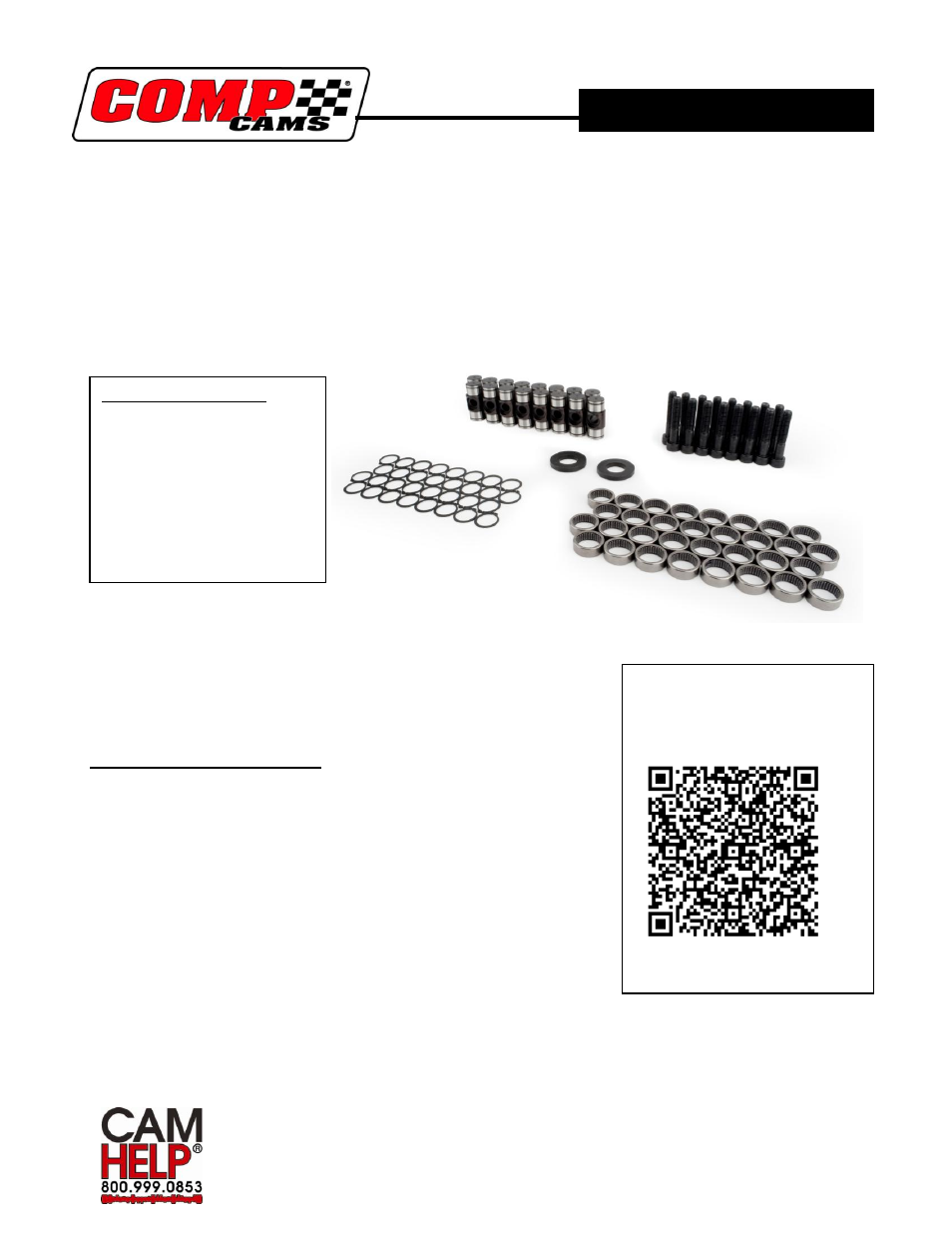 COMP Cams 13702-KIT Rocker Arm Trunion User Manual | 4 pages