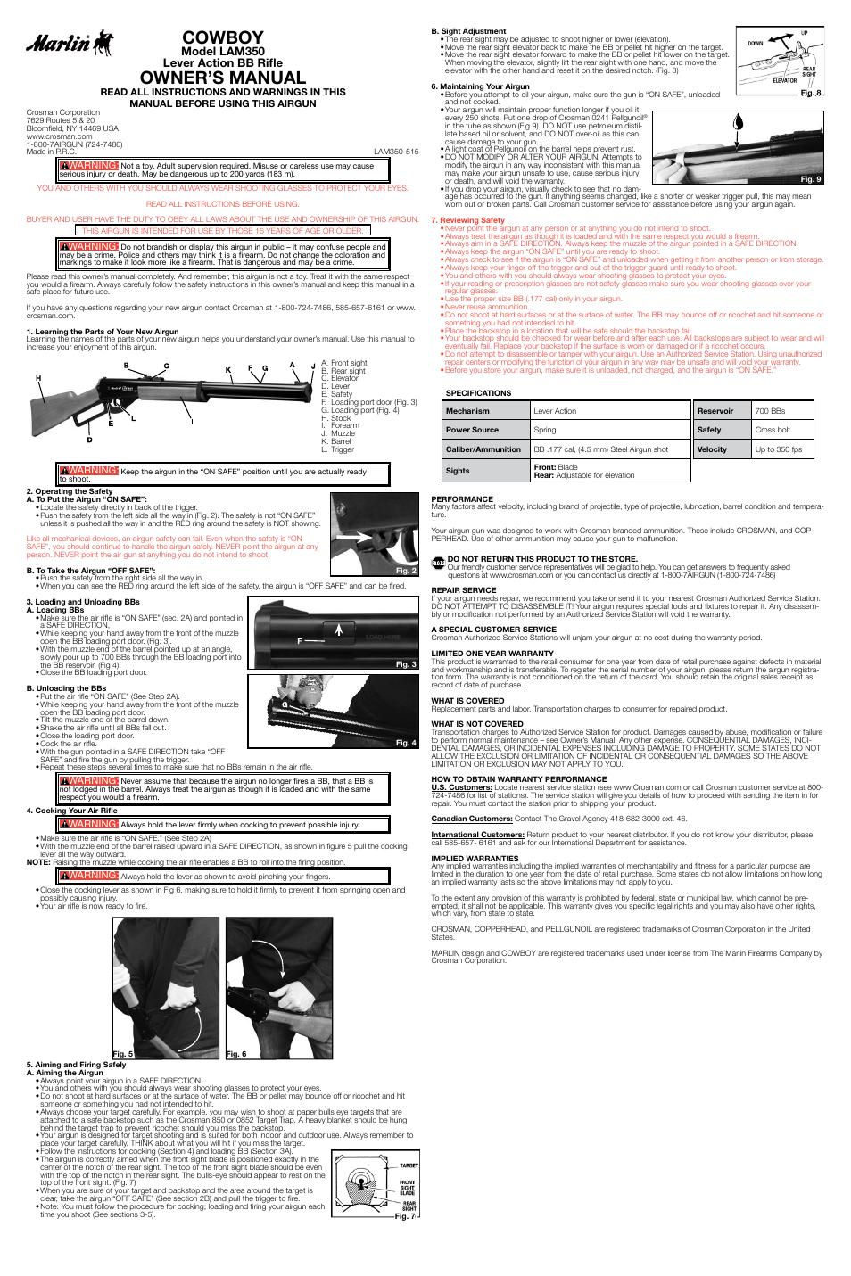 Crosman LAM350 User Manual | 3 pages