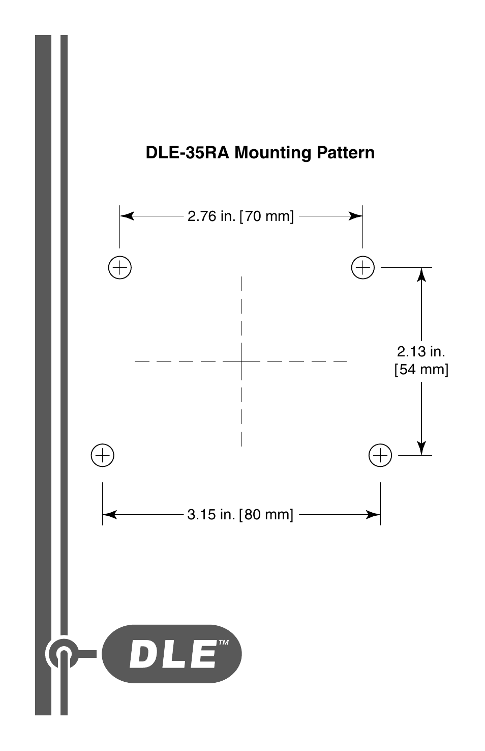 Dle-35ra mounting pattern | DLE 35RA User Manual | Page 24 / 24