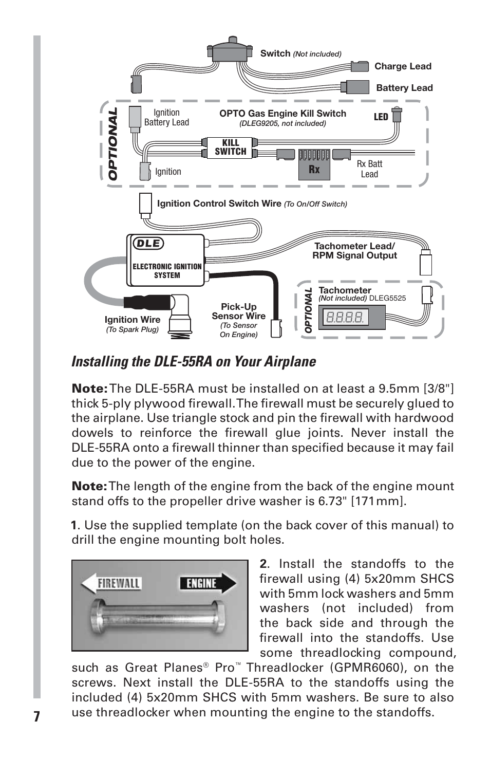 Installing the dle-55ra on your airplane | DLE 55RA User Manual ...
