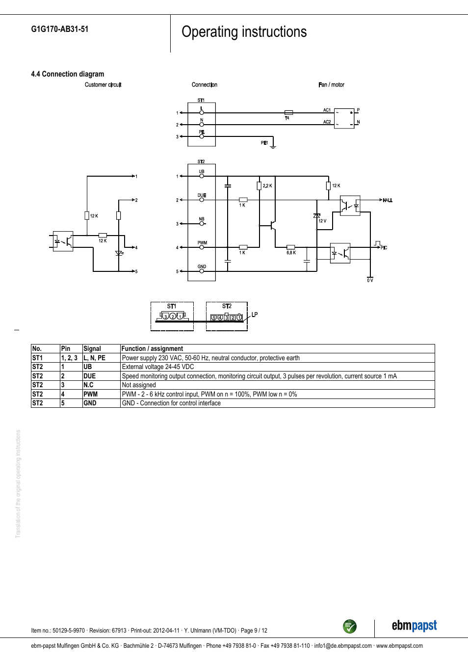 Ebm Papst Wiring Diagram Library Description Pwm Vfd Diagrampng Operating Instructions G1g170 Ab31 51 User Manual Page 9