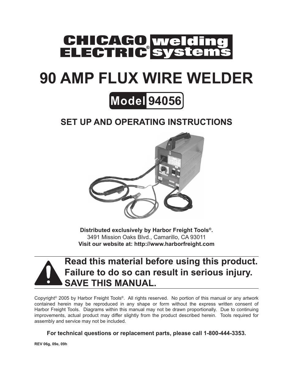 Parts For Chicago Electric Mig Welder Diagram Excellent Electrical Craftsman 85 Amp Model 93420111 100 94056 User Manual 14 Pages Rh Manualsdir Com 180 Welders Dual