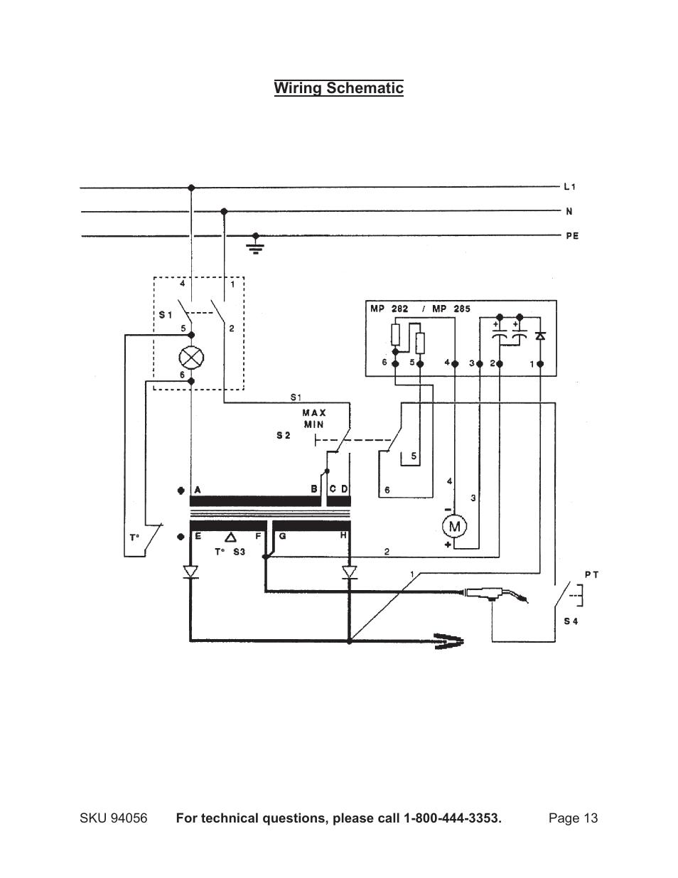 chicago wiring diagram chicago electric mig 100 94056 user manual page 13 14  electric mig 100 94056 user manual