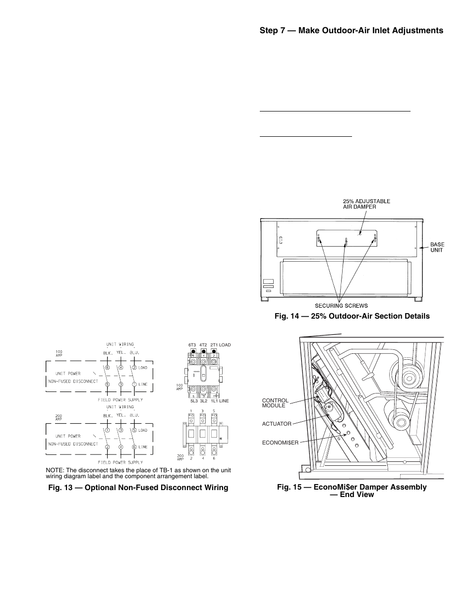 Carrier 50tj016 028 User Manual Page 11 36 Economizer Wiring Diagram