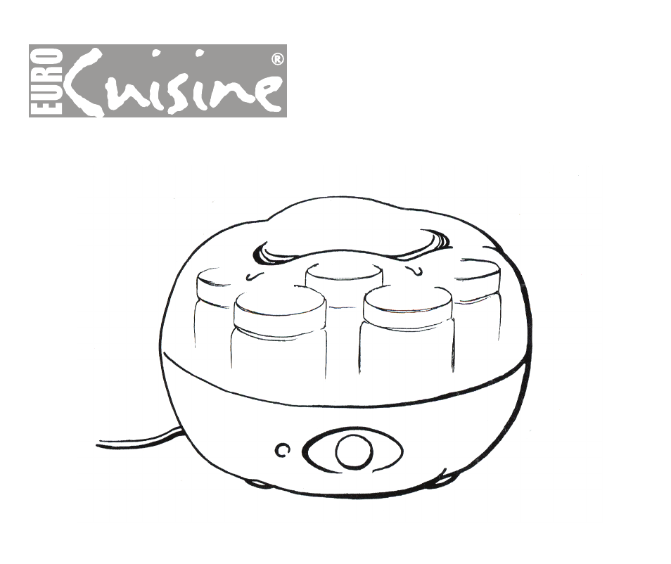 Euro Cuisine Ym80 User Manual 12 Pages
