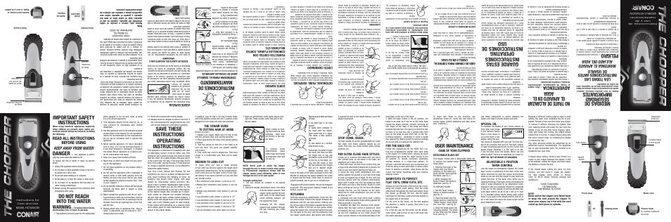 Conair Hct420csv User Manual