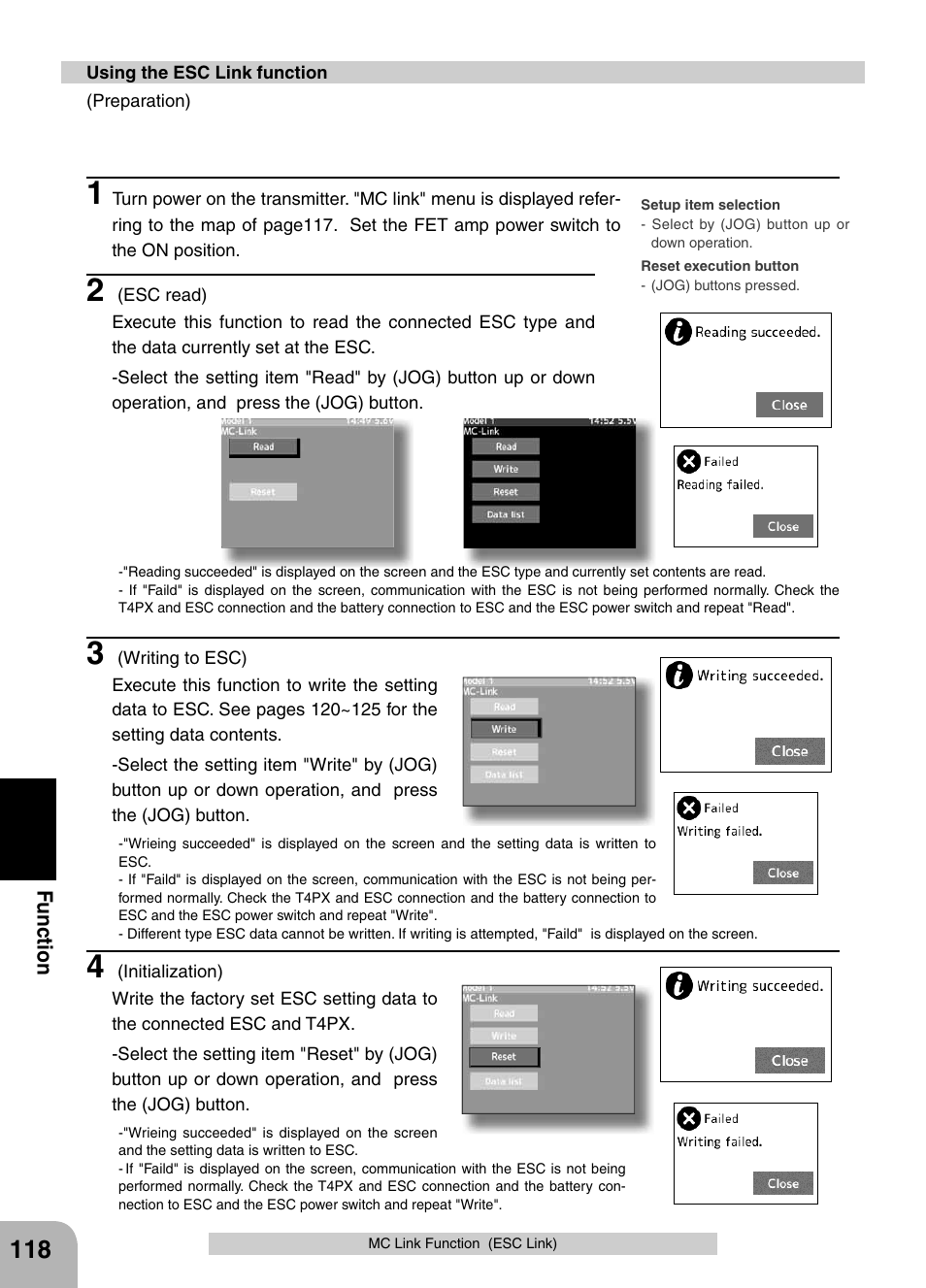 Futaba 4PX 2.4GHz FASST T-FHSS S-FHSS User Manual | Page 118 / 164
