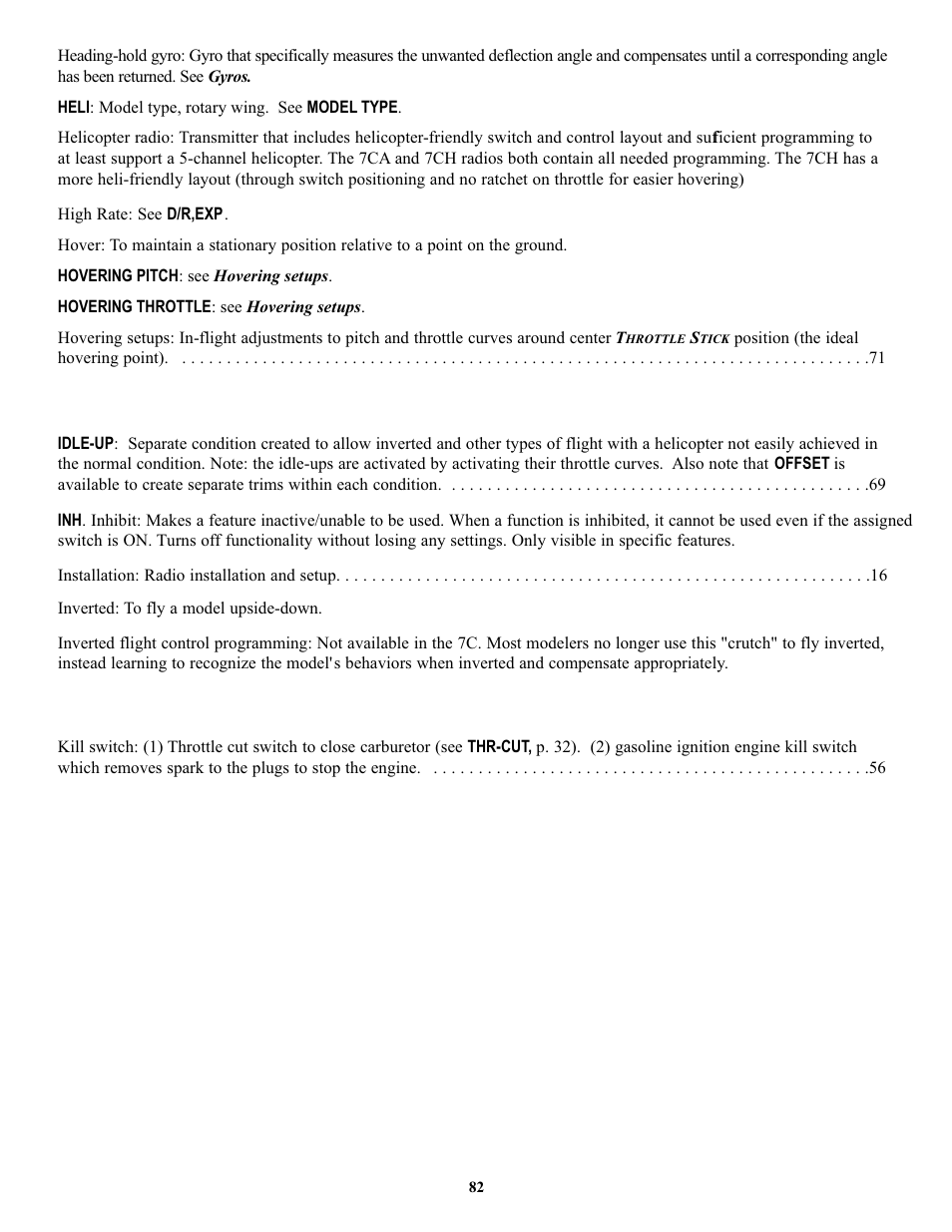 Futaba 7C 2 4GHz User Manual | Page 82 / 86