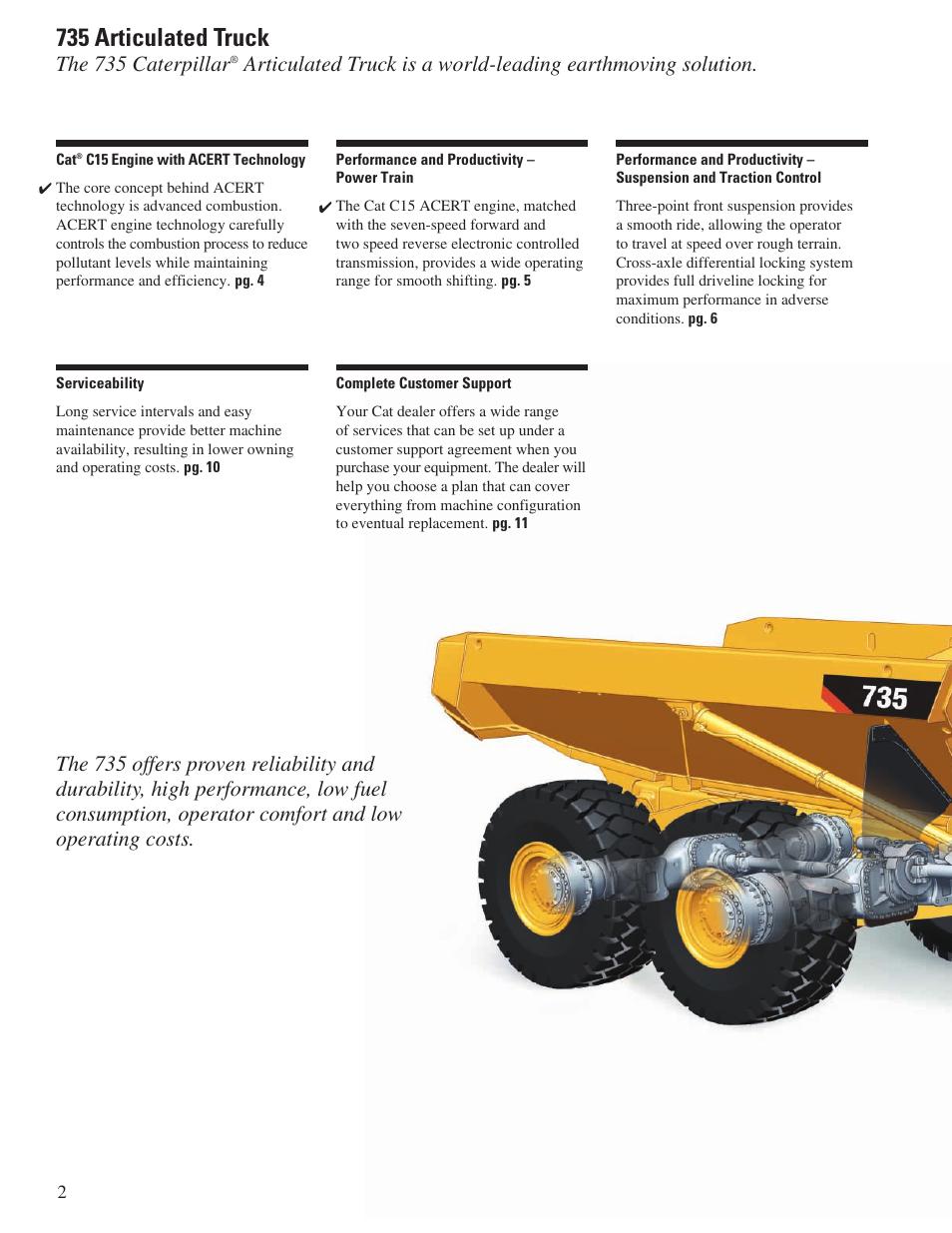 735 articulated truck the 735 caterpillar cat 735 user manual rh manualsdir com Cat C15 Engine Specifications Cat C15 Engine Parts