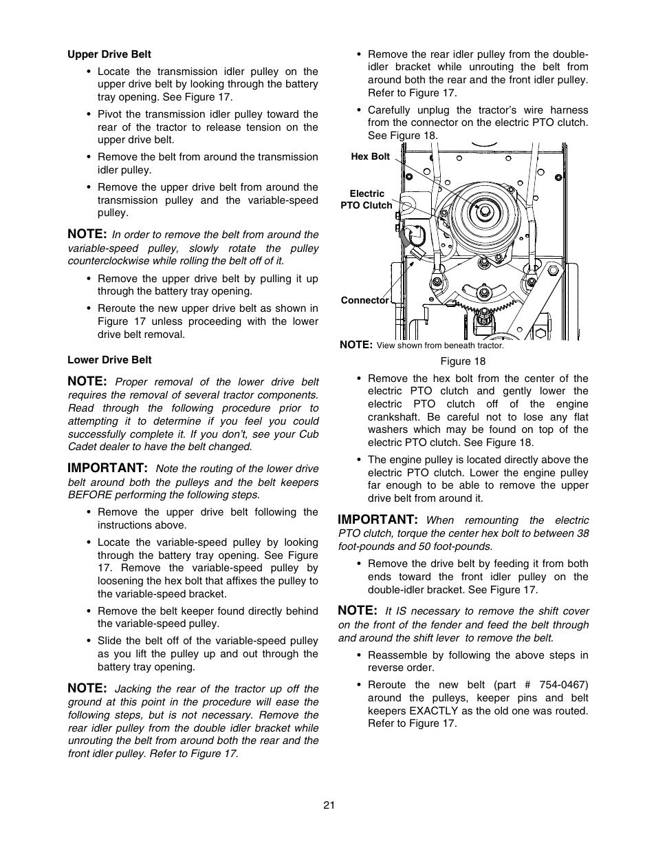 Cub Cadet 1212 User Manual | Page 21 / 44