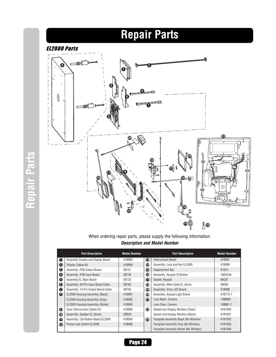 El2000 Parts  Repair Parts  Page 24