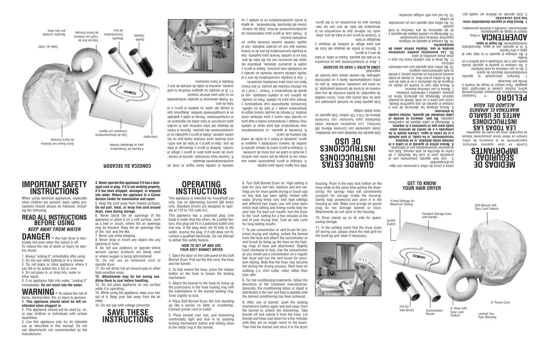 Conair SB1X User Manual