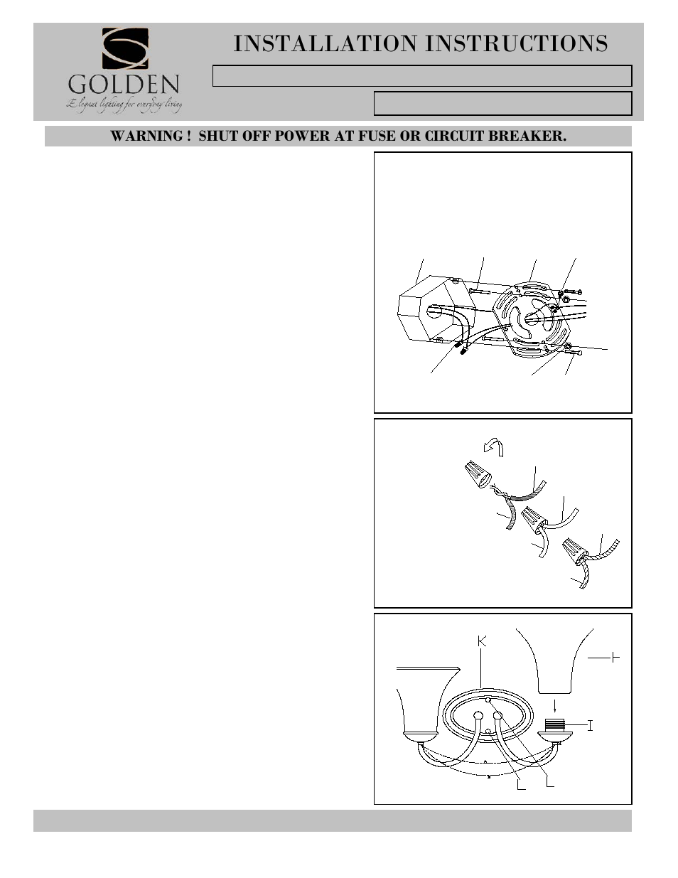 Golden Lighting 7644 Ba2 Ga User Manual 2 Pages Recently Removed The Wire Nuts On Two Lights Controlled By