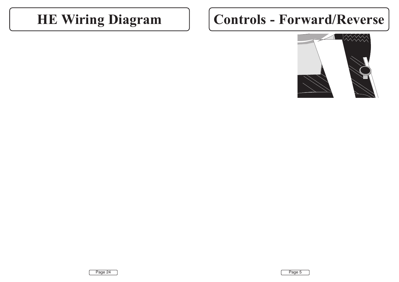 Controls - forward/reverse he wiring diagram | Countax A50 ... on