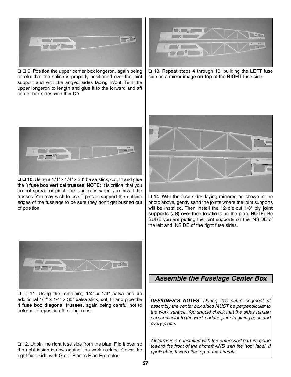 Assemble The Fuselage Center Box Great Planes Giant Extra 330l Kit Location Of Fuses In Power Distribution To Install Gpma0250 User Manual Page 27 54