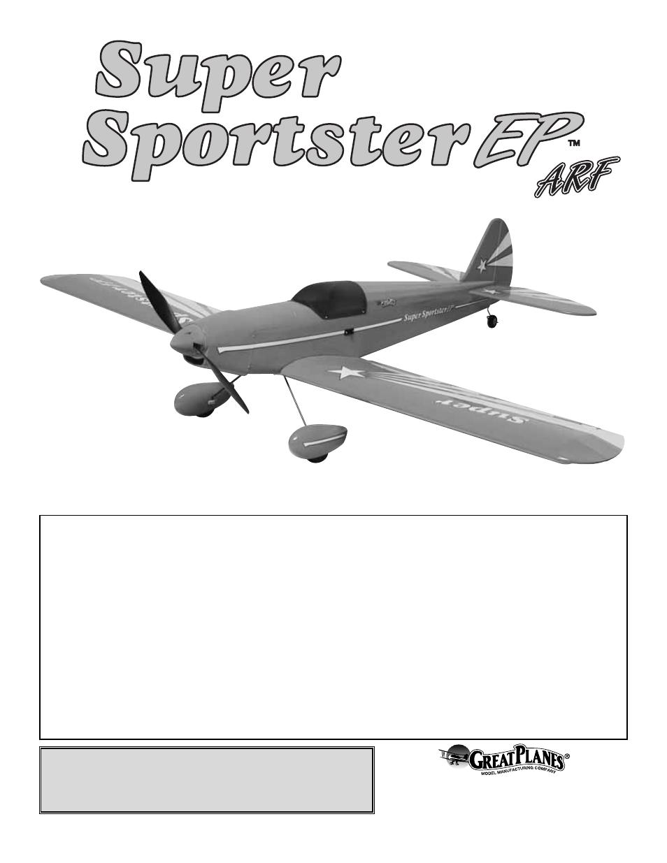 Super Sportster electro AIrplane Model plans - Duqesa