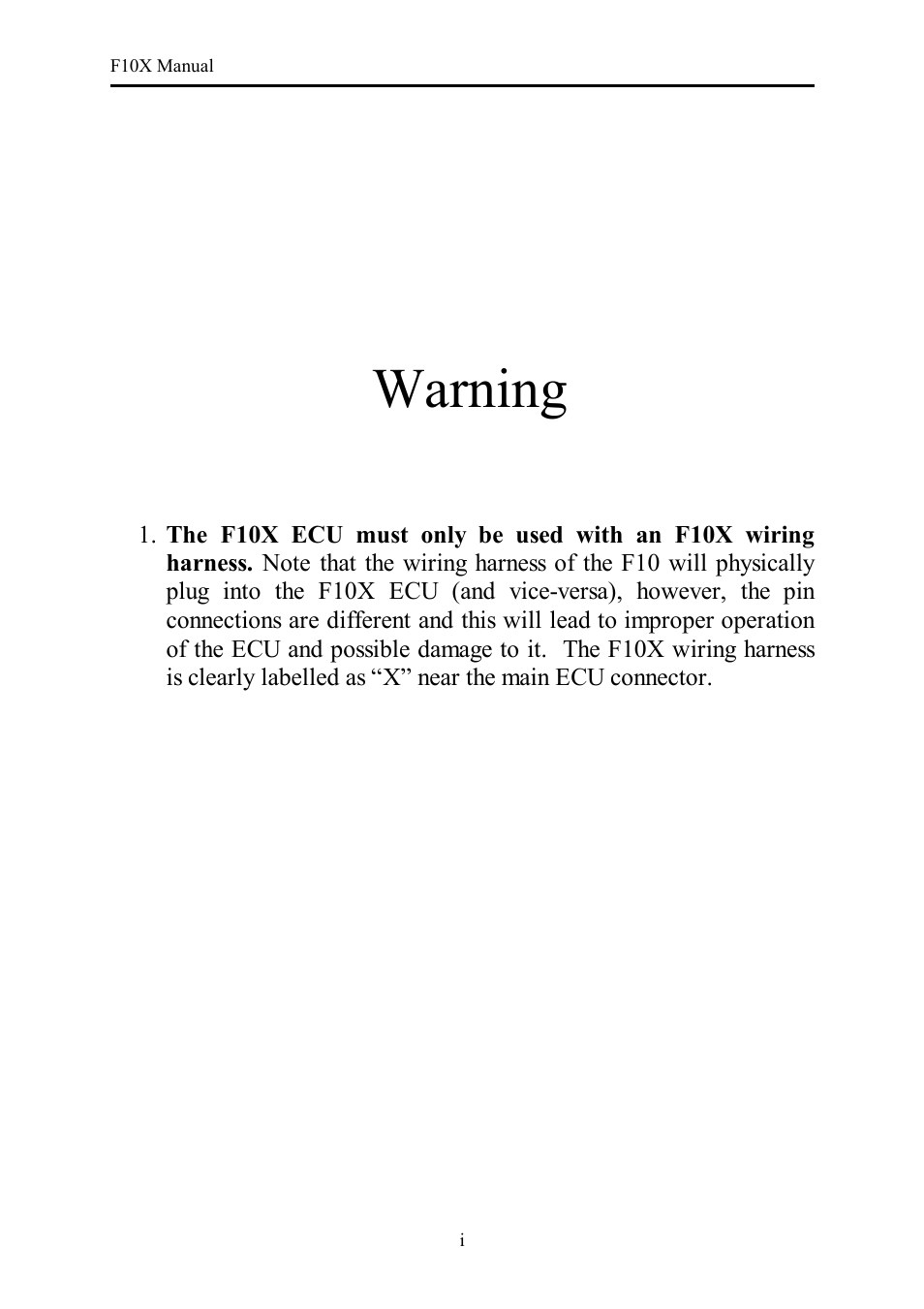 Haltech F10X User Manual | 120 pages