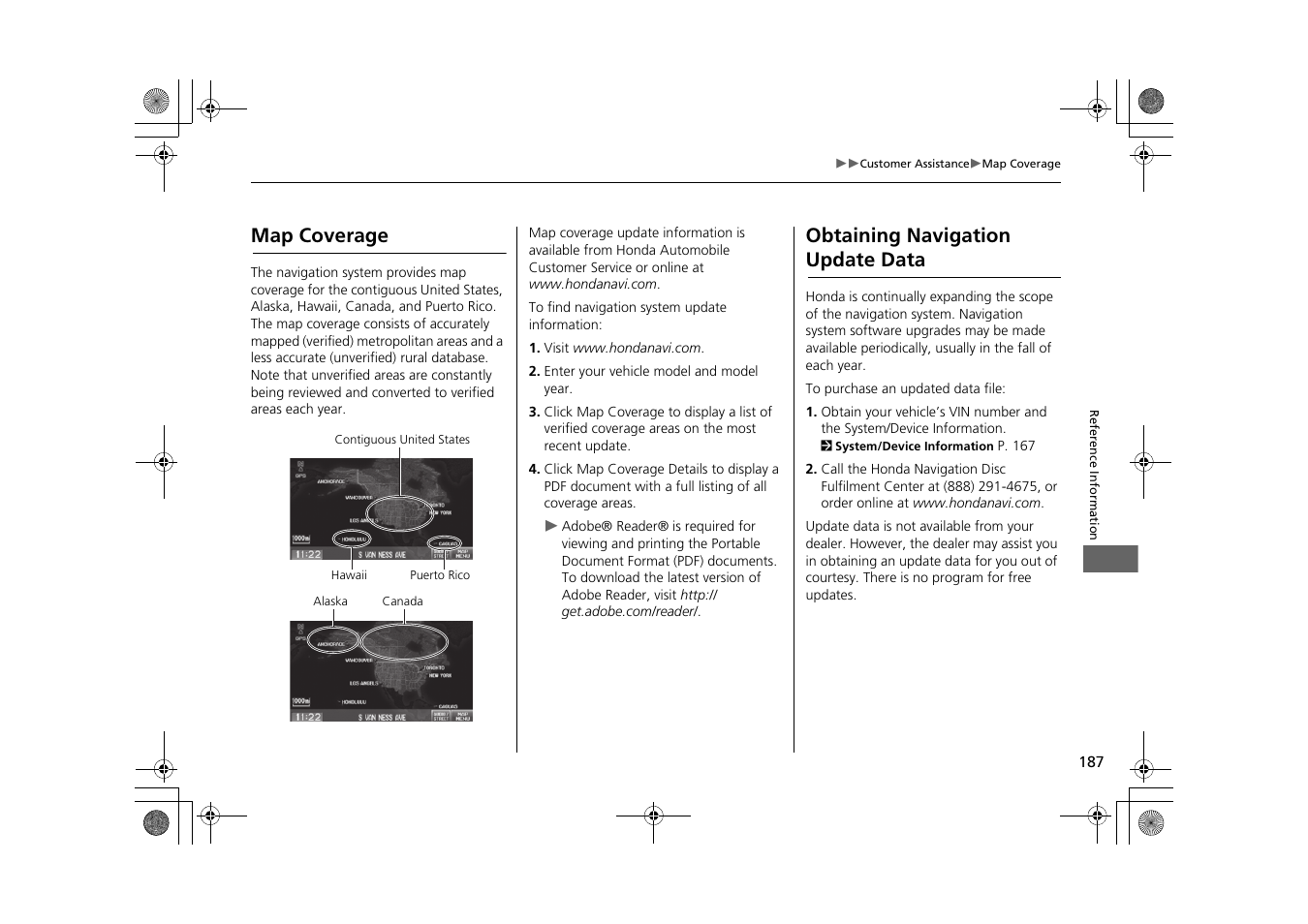 2 map coverage p  187, Map coverage obtaining navigation