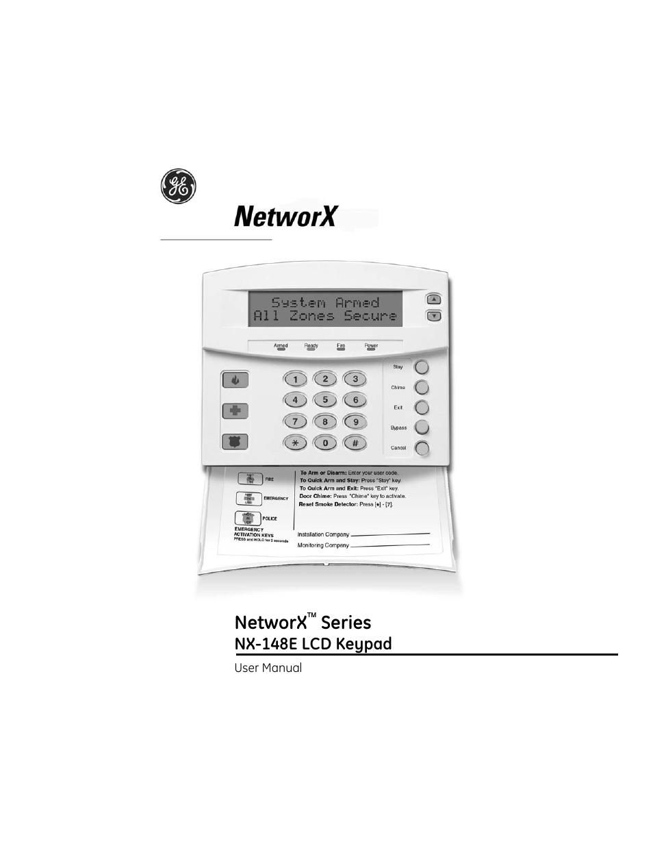 interlogix nx 148e user manual 30 pages rh manualsdir com ge networx nx-148e  programming manual ge networx nx-8 installation manual