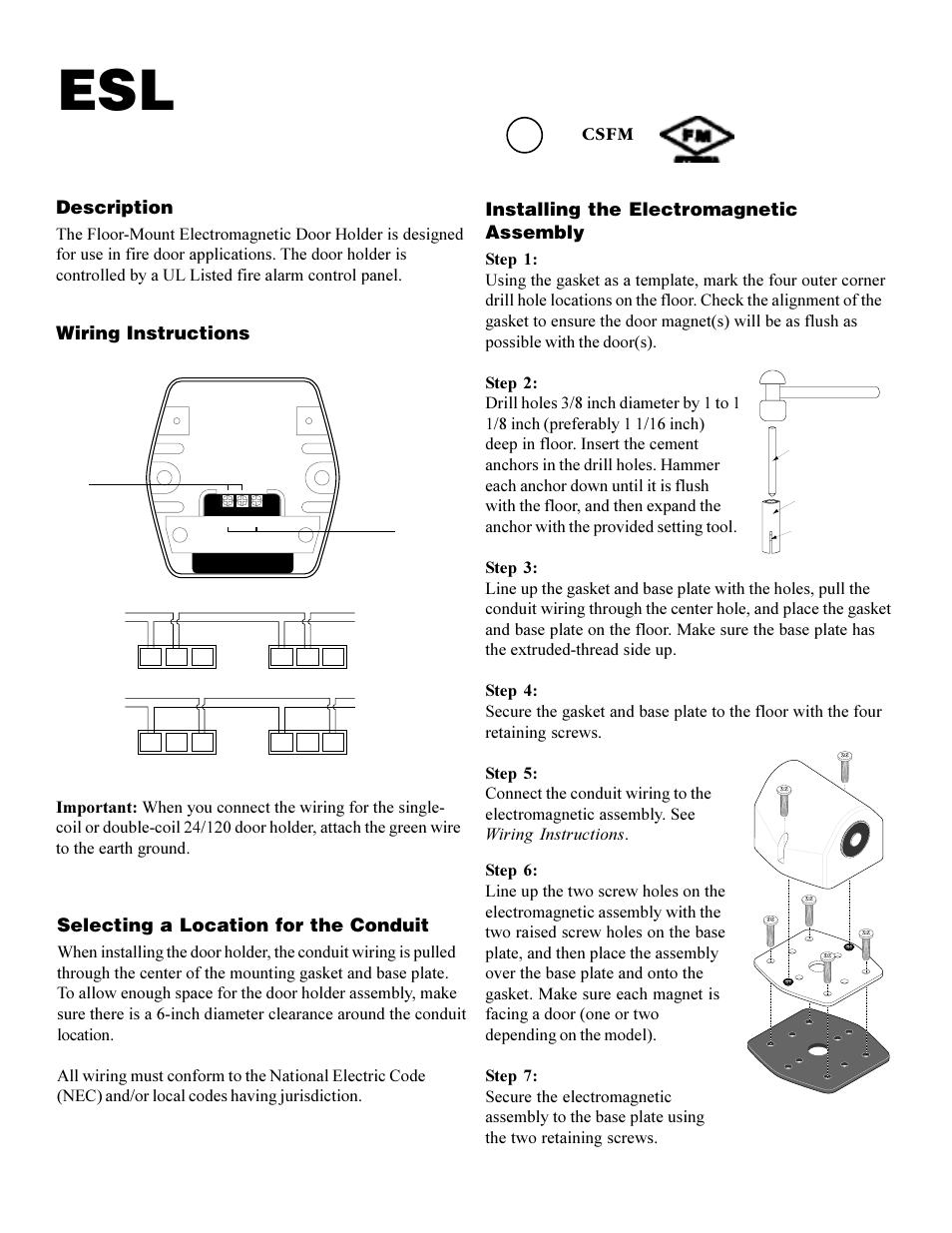 Interlogix Esl Dh Series User Manual 4 Pages