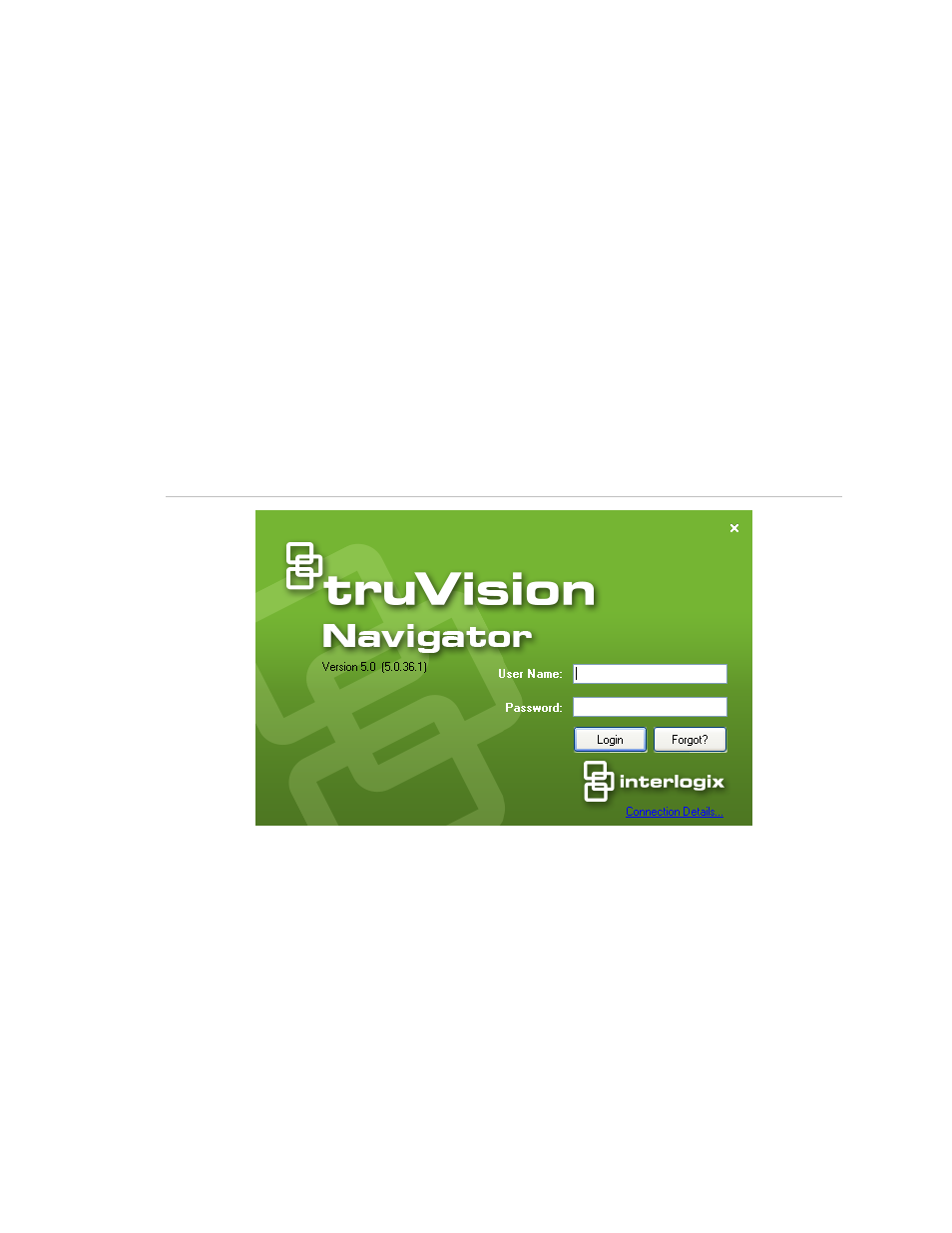 Initial login | Interlogix TruVision Navigator 5 0 User