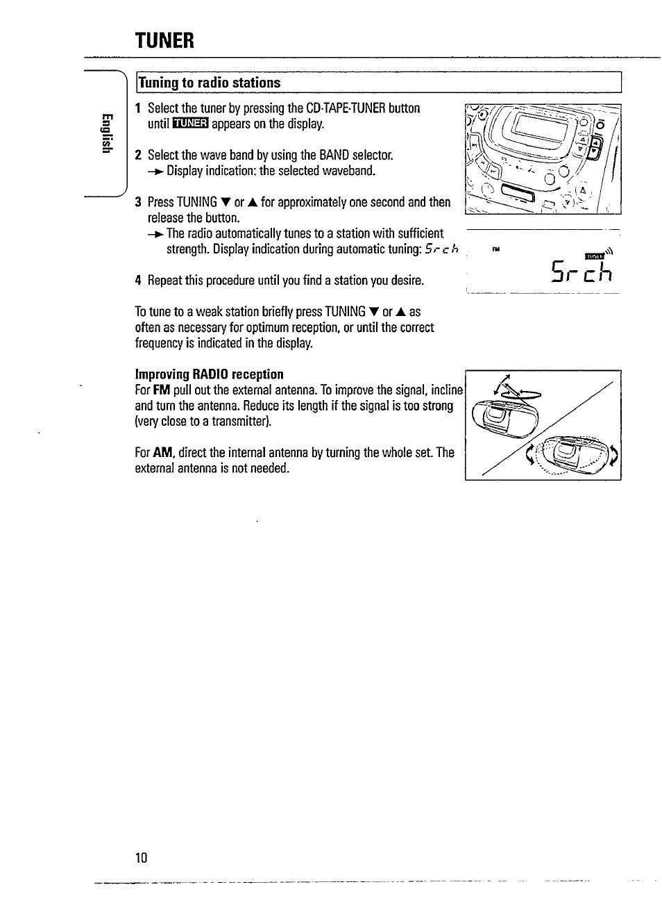 tuner tuning to radio stations sssi philips magnavox az1518 user rh manualsdir com Philips Electronics Manuals Philips Flat TV Manual
