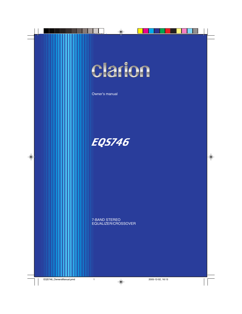 Clarion Eqs746 Wire Harness Manual Array User 16 Pages Rh Manualsdir