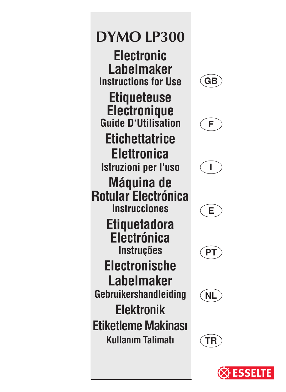 esselte dymo lp300 user manual 12 pages rh manualsdir com Pendaflex Esselte Pendaflex Esselte