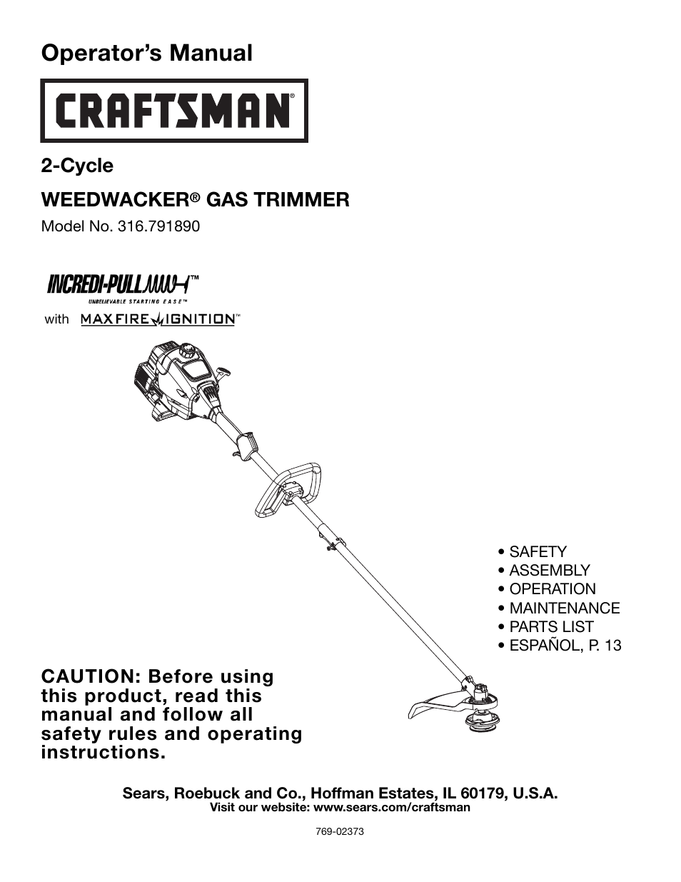 craftsman 316 79189 user manual 28 pages rh manualsdir com craftsman weedwacker gas trimmer manual craftsman 27cc gas trimmer manual