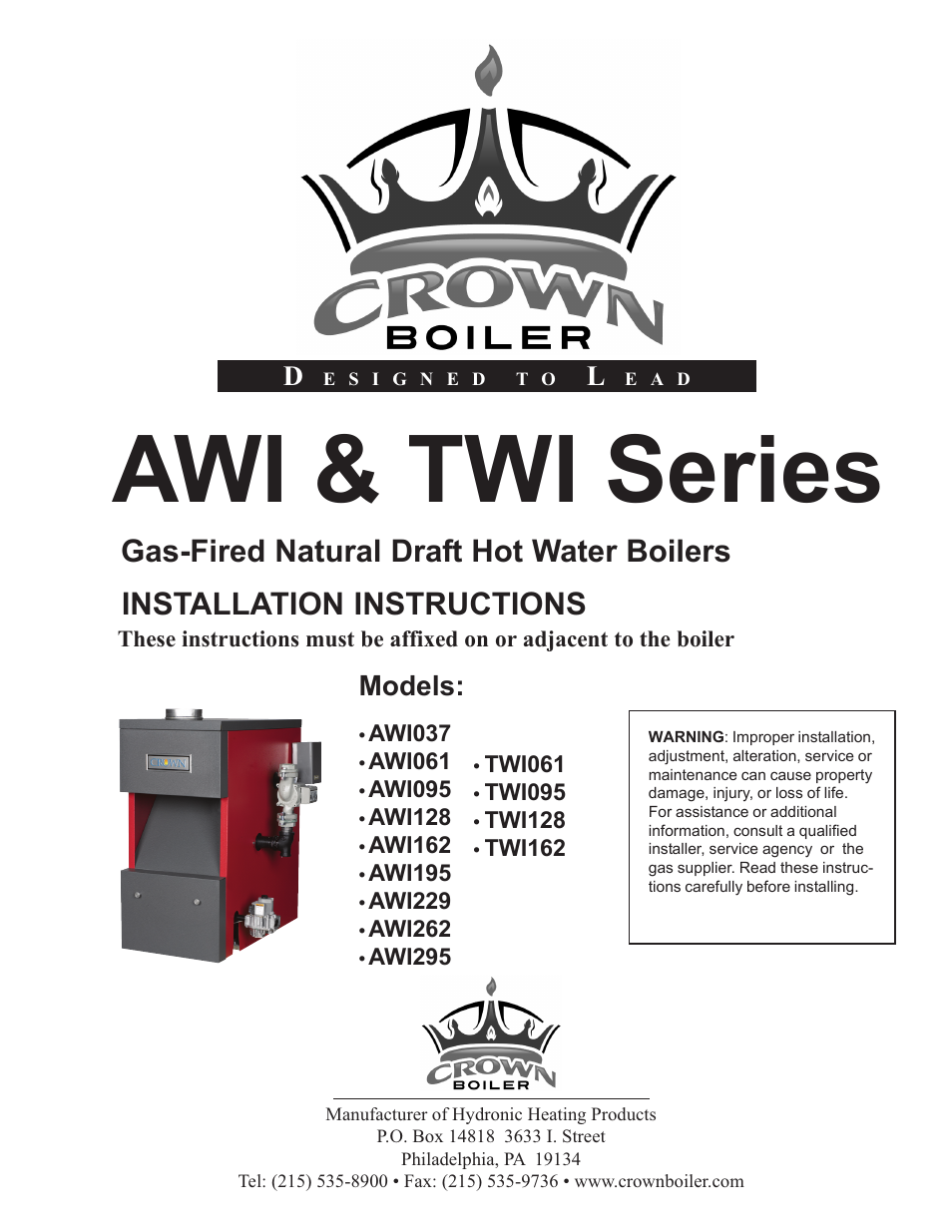 crown boiler awi128 user manual 42 pages also for. Black Bedroom Furniture Sets. Home Design Ideas