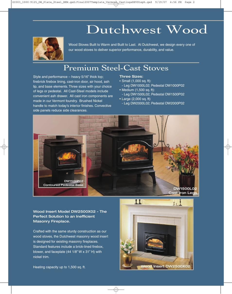 Dutchwest wood, Premium steel-cast stoves | Vermont Casting ...