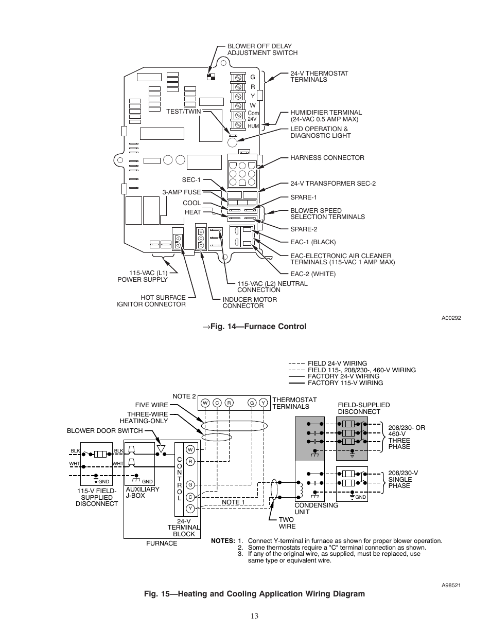 carrier weathermaker 8000 58zav page13 fig 14 furnace control carrier weathermaker 8000 58zav user carrier weathermaker 8000 wiring diagram at bayanpartner.co