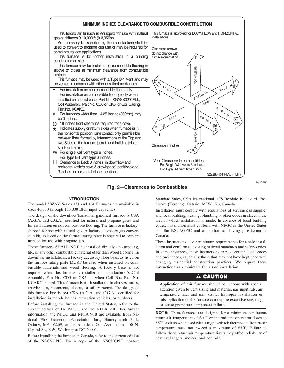 Carrier WEATHERMAKER 8000 58ZAV User Manual | Page 3 / 24
