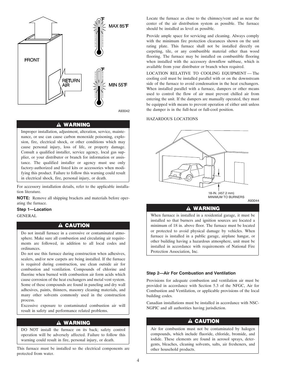 Carrier WEATHERMAKER 8000 58ZAV User Manual | Page 4 / 24