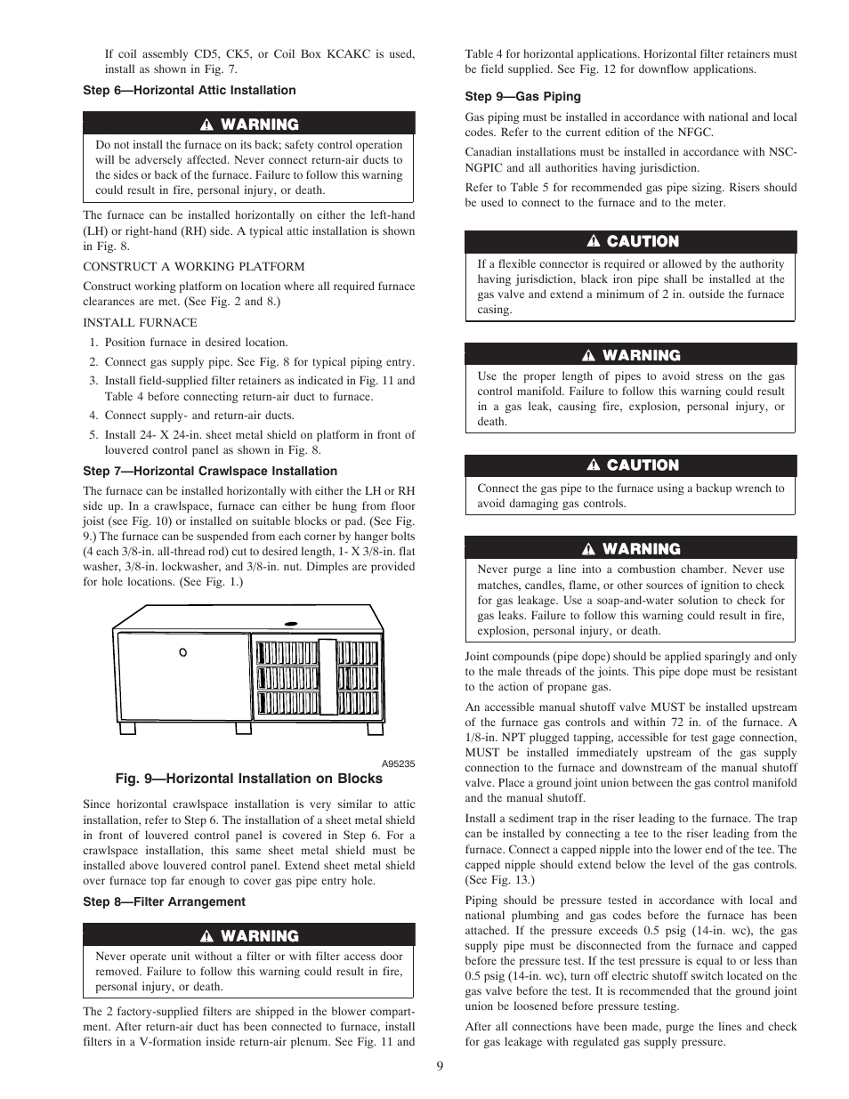 Carrier Weathermaker 8000 58zav User Manual Page 9 24