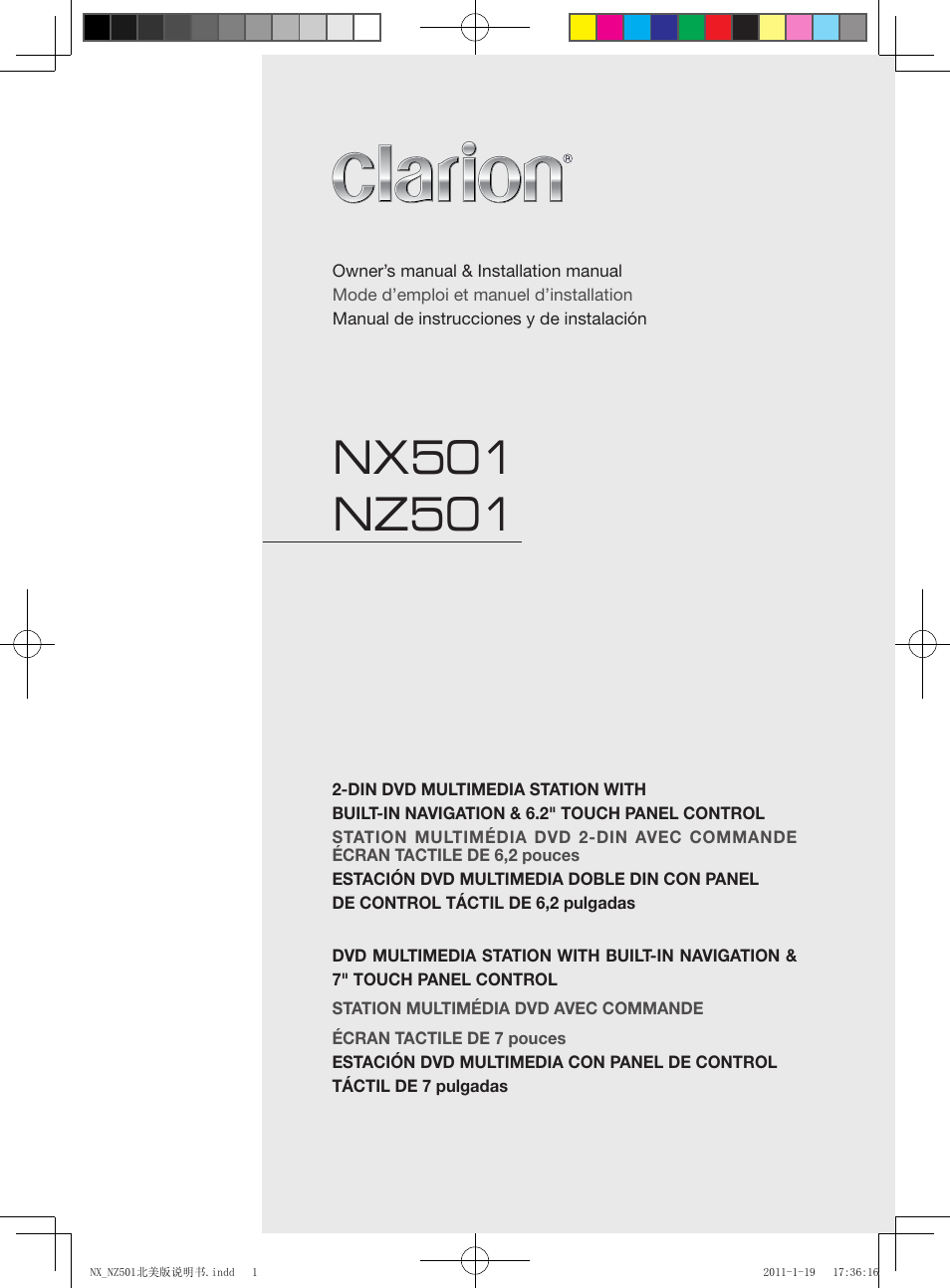 clarion nx501 user manual 159 pages also for nz501 Instruction Manual Example Owner's Manual