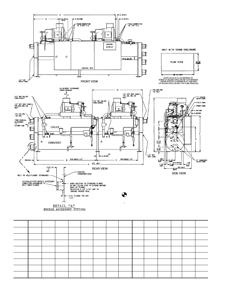 Carrier 30HXA,HXC076-186 Water-Cooled and Condenserless Chillers User Manual    Page 2 / 28