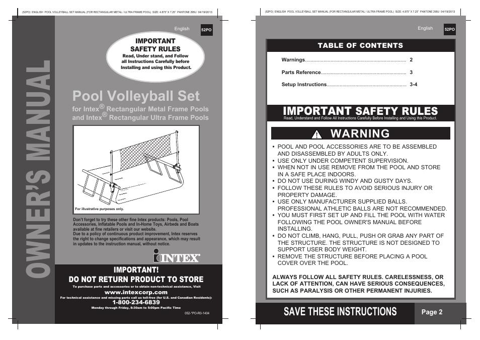 Intex Easy Set Pool Instruction Manual Car Owners Manual
