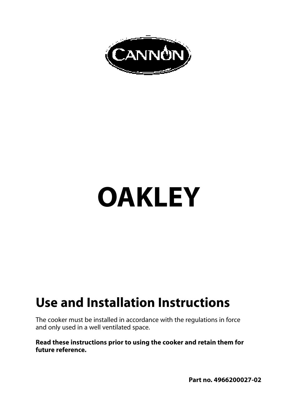 cannon oakley 10518g user manual 28 pages also for oakley rh manualsdir com Leisure Cookers Beko Cookers