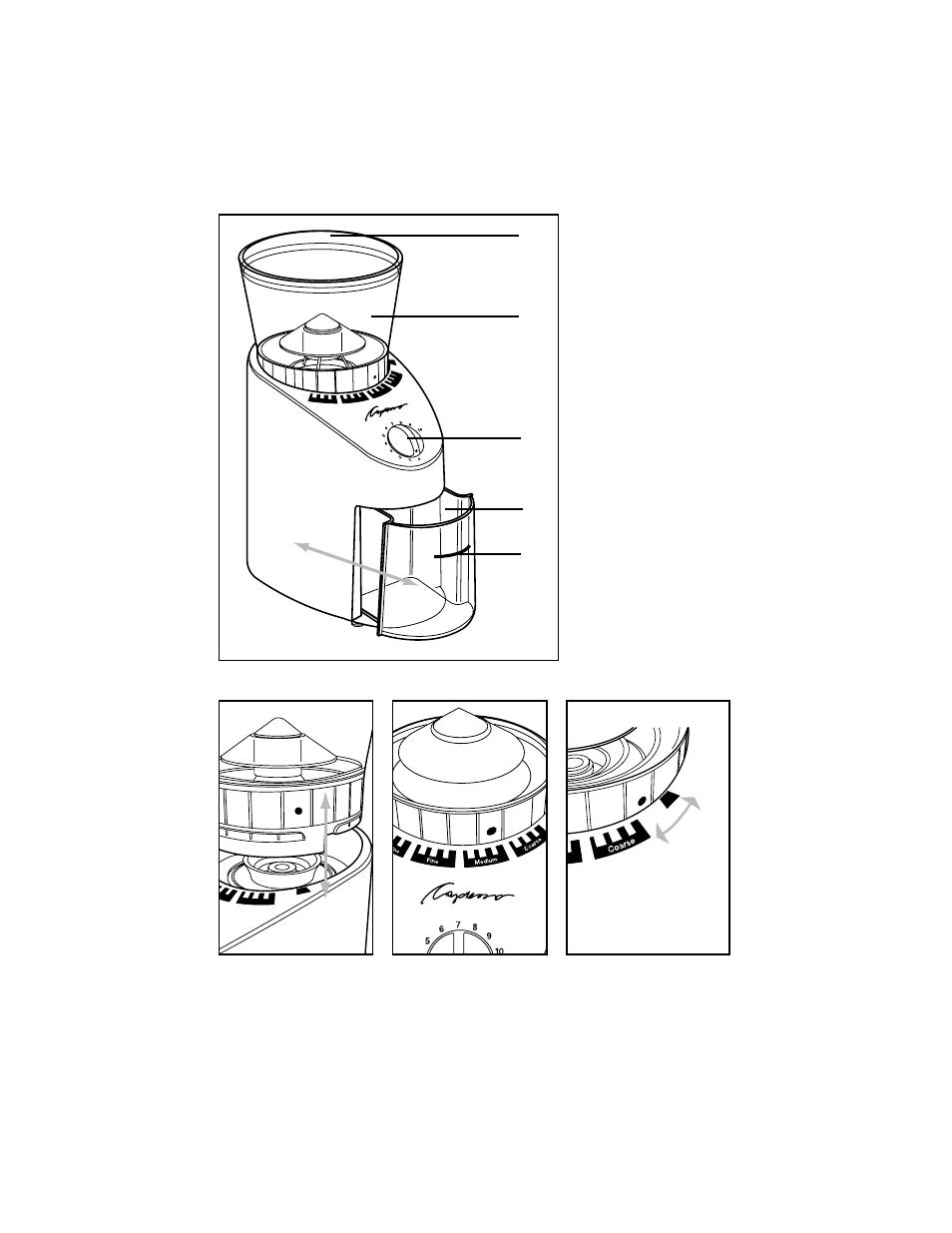 Capresso Infinity Burr Grinder Parts Diagram
