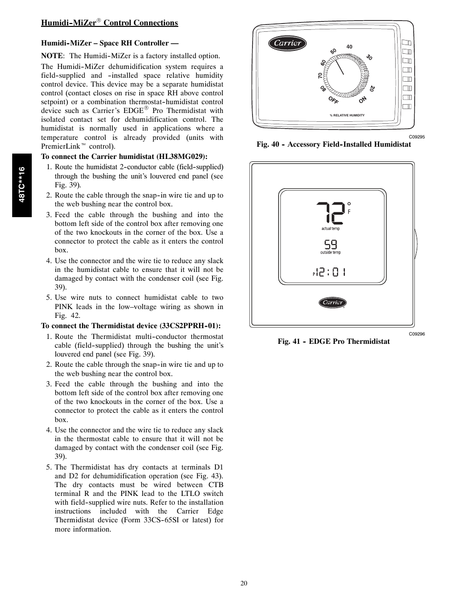Carrier Thermidistat Owners Manual Online User Manual