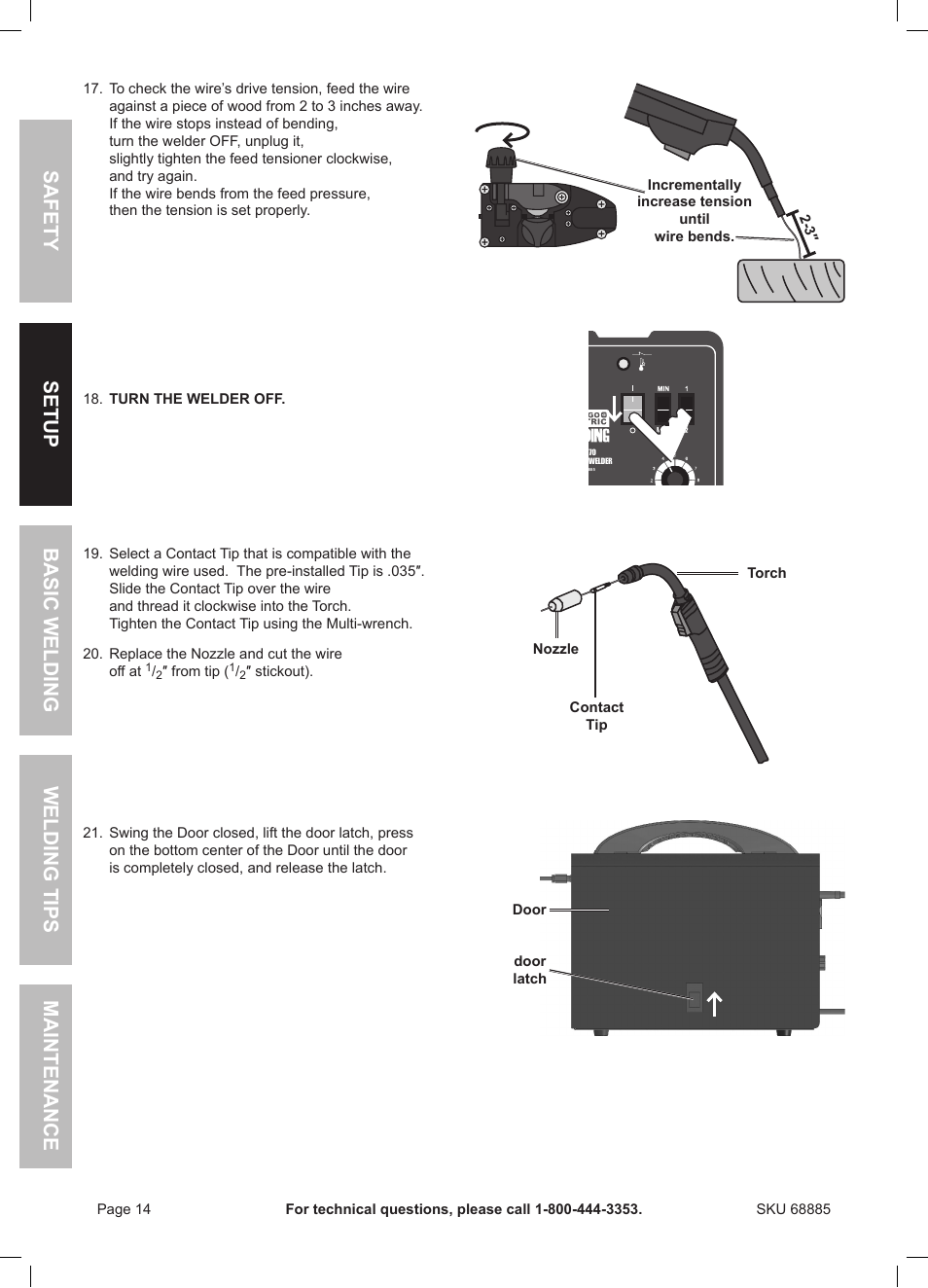 Chicago Electric Wire Feed Welder MIG 170 User Manual | Page 14 / 32