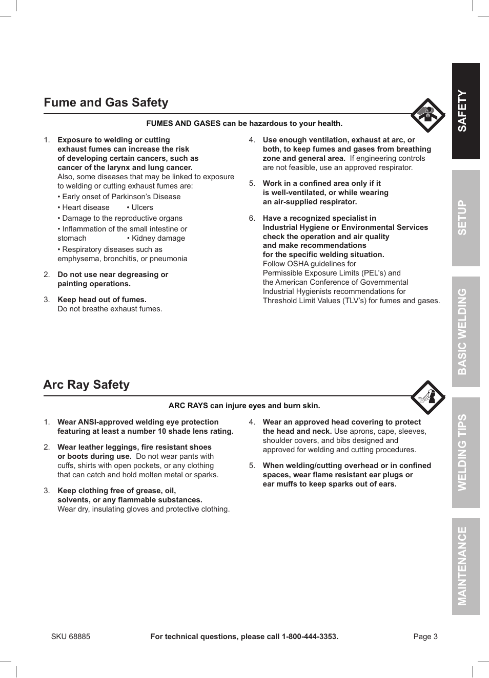 Fume and gas safety, Arc ray safety | Chicago Electric Wire Feed