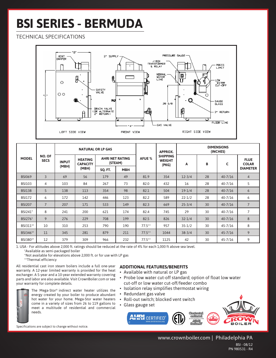 Crown Boiler Hot Water Diagram Wiring Indirect Heater Vertical 954x1235